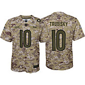 Nike Men's Salute to Service Chicago Bears Mitchell Trubisky #10 Camouflage Home Game Jersey
