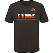 Nike Youth Cleveland Browns Team Practice Brown T-Shirt