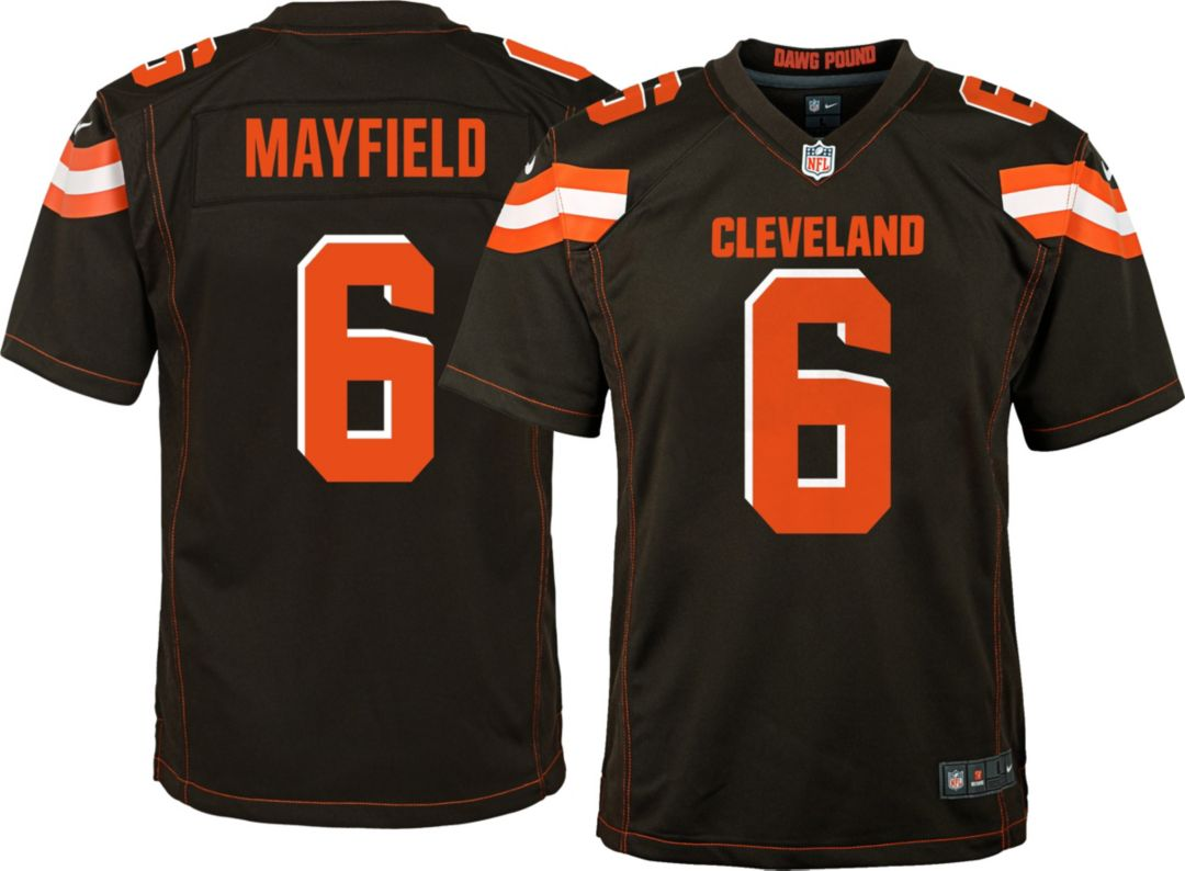 8ea3bb6db39 Baker Mayfield #6 Nike Youth Cleveland Browns Home Game Jersey ...