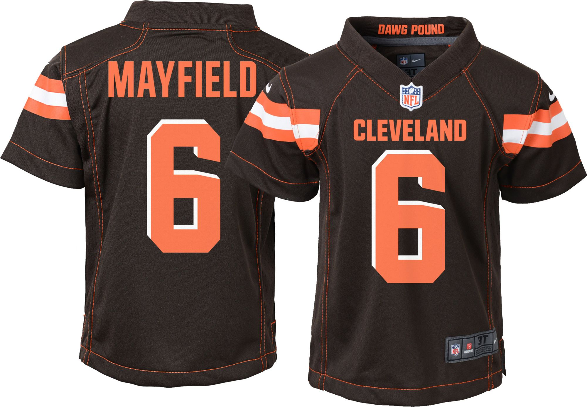 boys cleveland browns jersey
