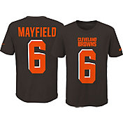 Nike Youth Cleveland Browns Baker Mayfield #6 Pride Brown T-Shirt