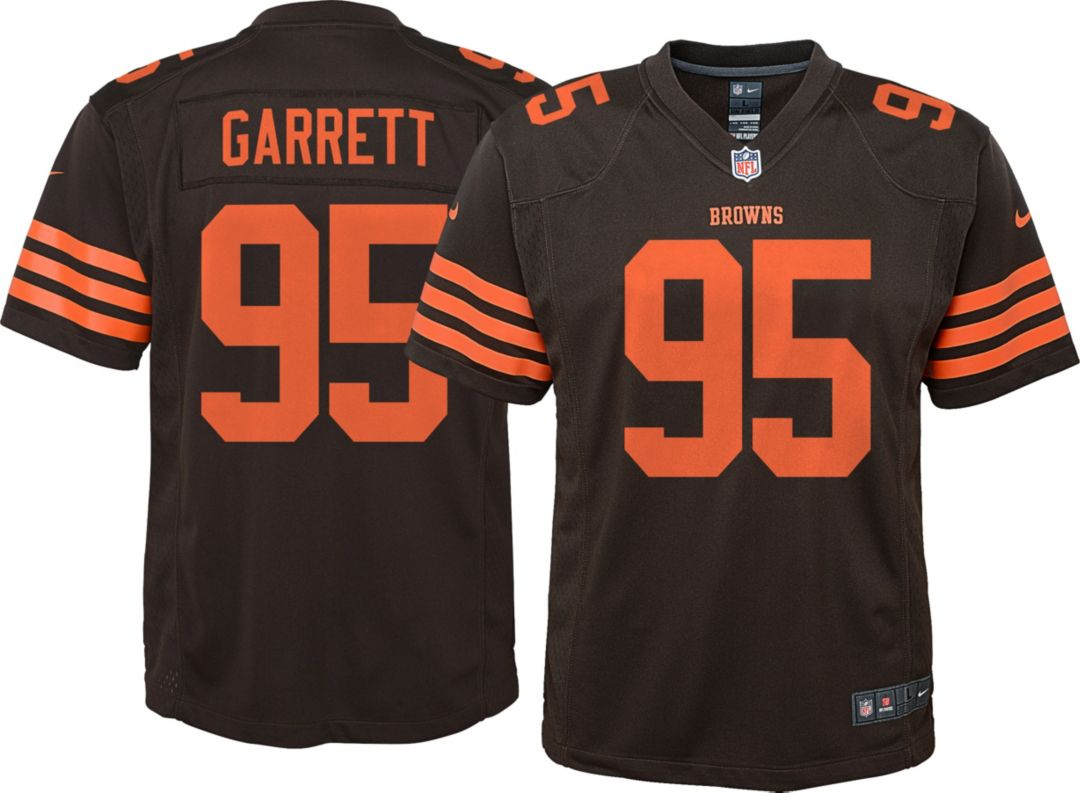 best value 8470a 87b3c Nike Youth Color Rush Game Jersey Cleveland Browns Myles Garrett #95