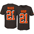 Nike Youth Cleveland Browns Denzel Ward #21 Pride Wordmark Brown T-Shirt