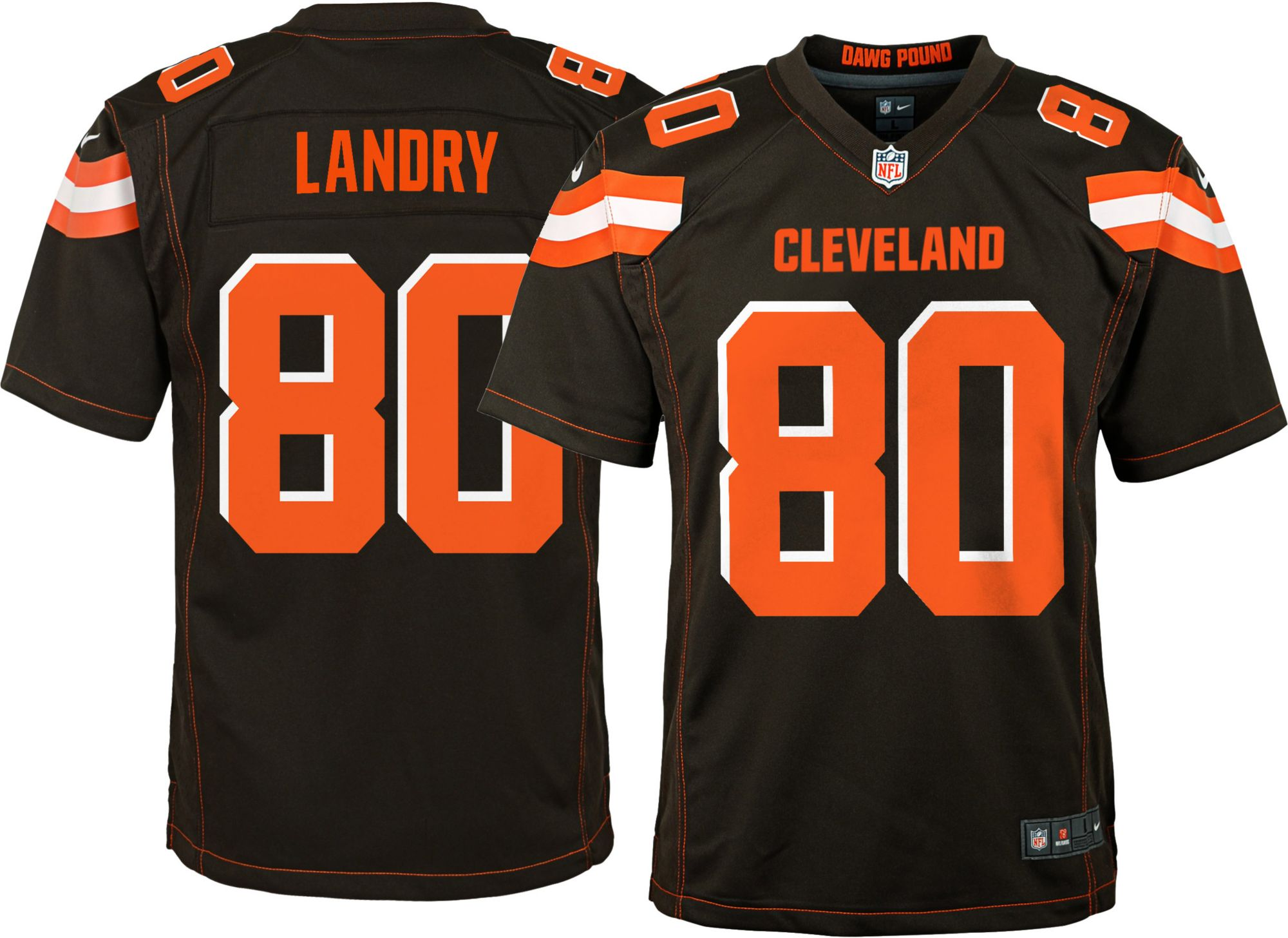 jarvis landry orange browns jersey