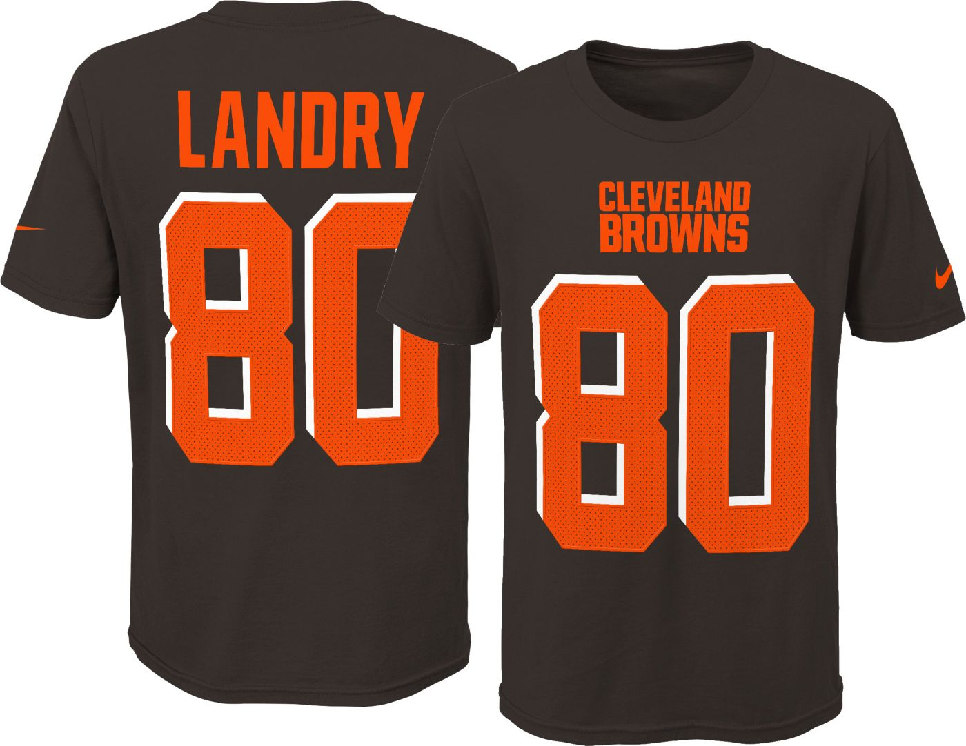 Nike Youth Cleveland Browns Jarvis Landry #80 Pride Player Brown T-Shirt