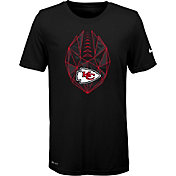 Nike Youth Kansas City Chiefs Icon Performance Black T-Shirt