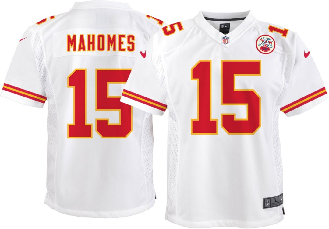 pretty nice 0390a 51ebd Nike Youth Away Game Jersey Kansas City Chiefs Patrick Mahomes #15