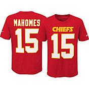 Nike Youth Kansas City Chiefs Patrick Mahomes #15 Pride Red T-Shirt