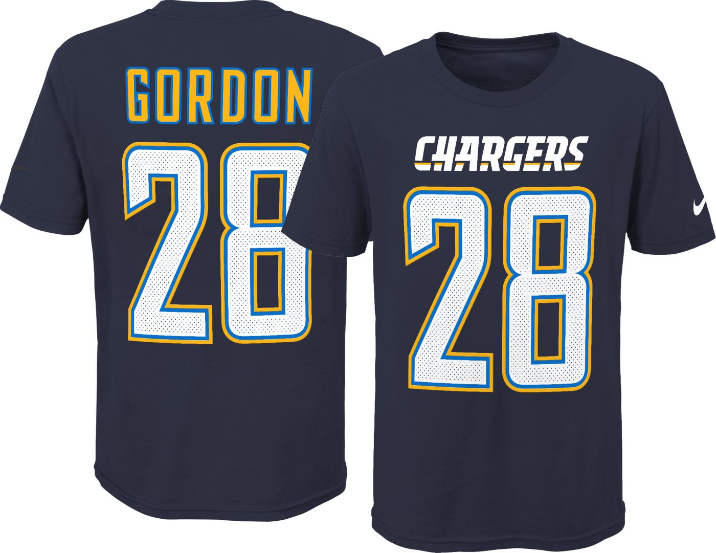 Nike Youth Los Angeles Chargers Melvin Gordon #28 Pride Navy T-Shirt