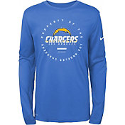 Nike Youth Los Angeles Chargers Property Of Long Sleeve Blue Shirt
