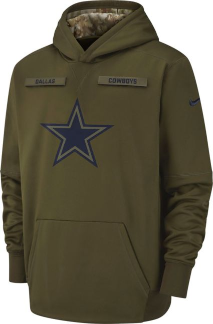 9cd12f9b9 Nike Youth Salute to Service Dallas Cowboys Therma-FIT Olive Performance  Hoodie. noImageFound