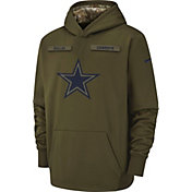 Nike Youth Salute to Service Dallas Cowboys Therma-FIT Olive Performance Hoodie