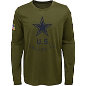 Nike Youth Salute to Service Dallas Cowboys Legend Long Sleeve Shirt