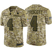 Nike Men's Salute to Service Dallas Cowboys Dak Prescott #4 Camouflage Game Jersey