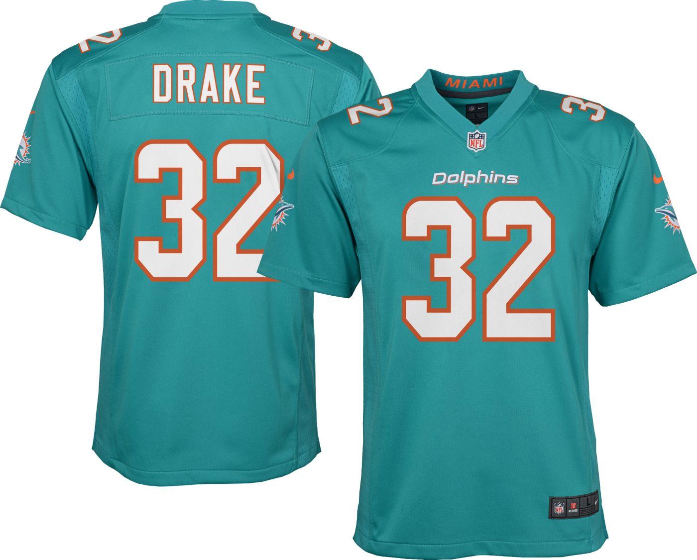 Nike Youth Home Game Jersey Miami Dolphins Kenyan Drake #32