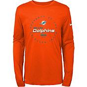 Nike Youth Miami Dolphins Property Of Long Sleeve Orange Shirt