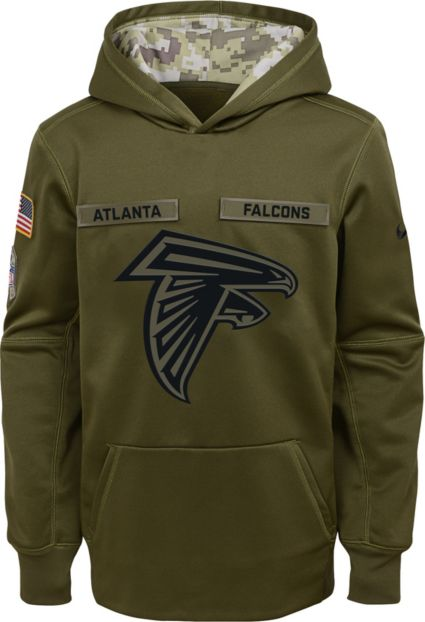 Nike Youth Salute to Service Atlanta Falcons Therma-FIT Olive Performance  Hoodie. noImageFound 9a36fccc6