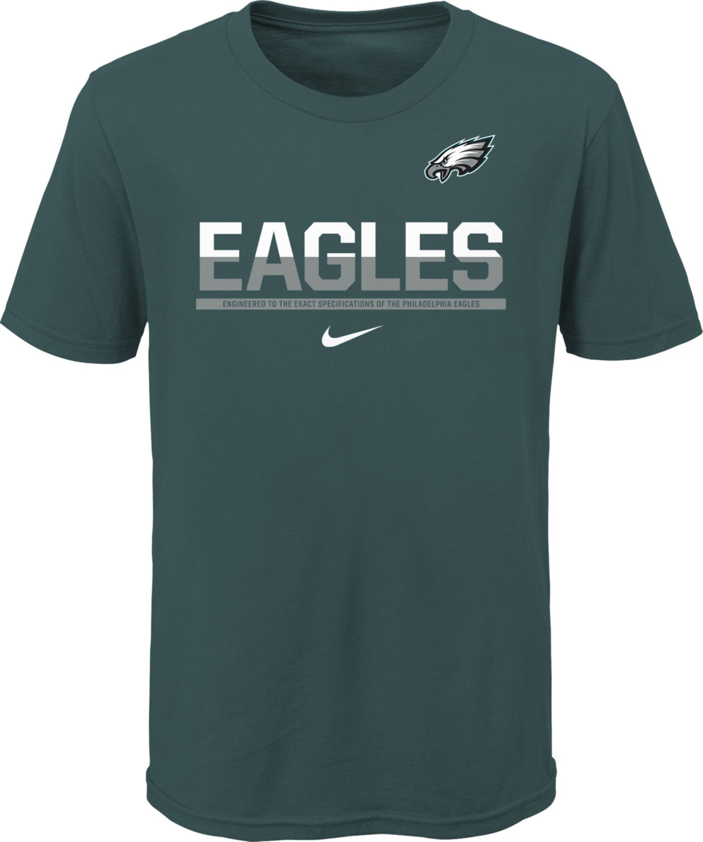 Nike Youth Philadelphia Eagles Team Practice Green T-Shirt