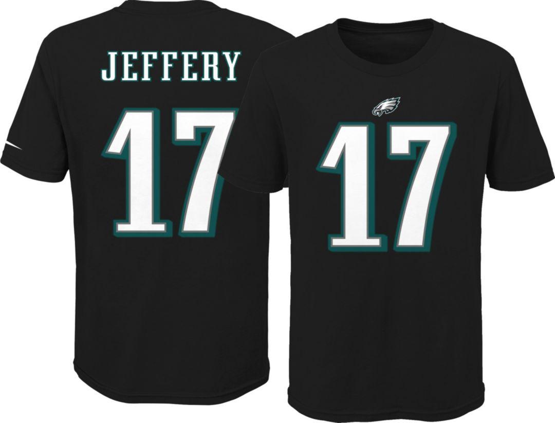 the latest d4e6f 78048 Nike Youth Philadelphia Eagles Alshon Jeffery #17 Pride Black T-Shirt