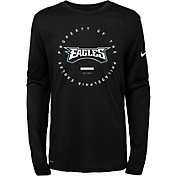 Nike Youth Philadelphia Eagles Property Of Long Sleeve Black Shirt