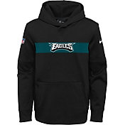 Nike Youth Philadelphia Eagles Sideline Therma-FIT Black Pullover Hoodie