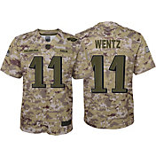 Nike Youth Salute to Service Philadelphia Eagles Carson Wentz #11 Camouflage Home Game Jersey