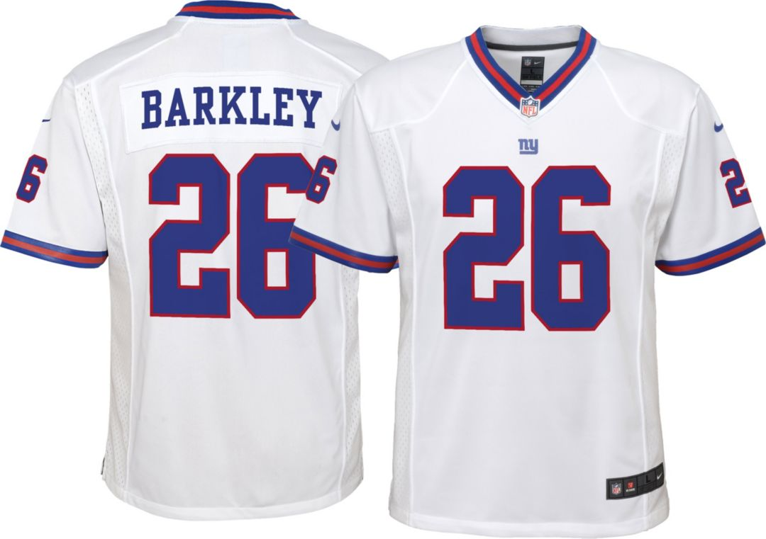 purchase cheap ac4a7 899a0 Nike Youth Color Rush Game Jersey New York Giants Saquon Barkley #26