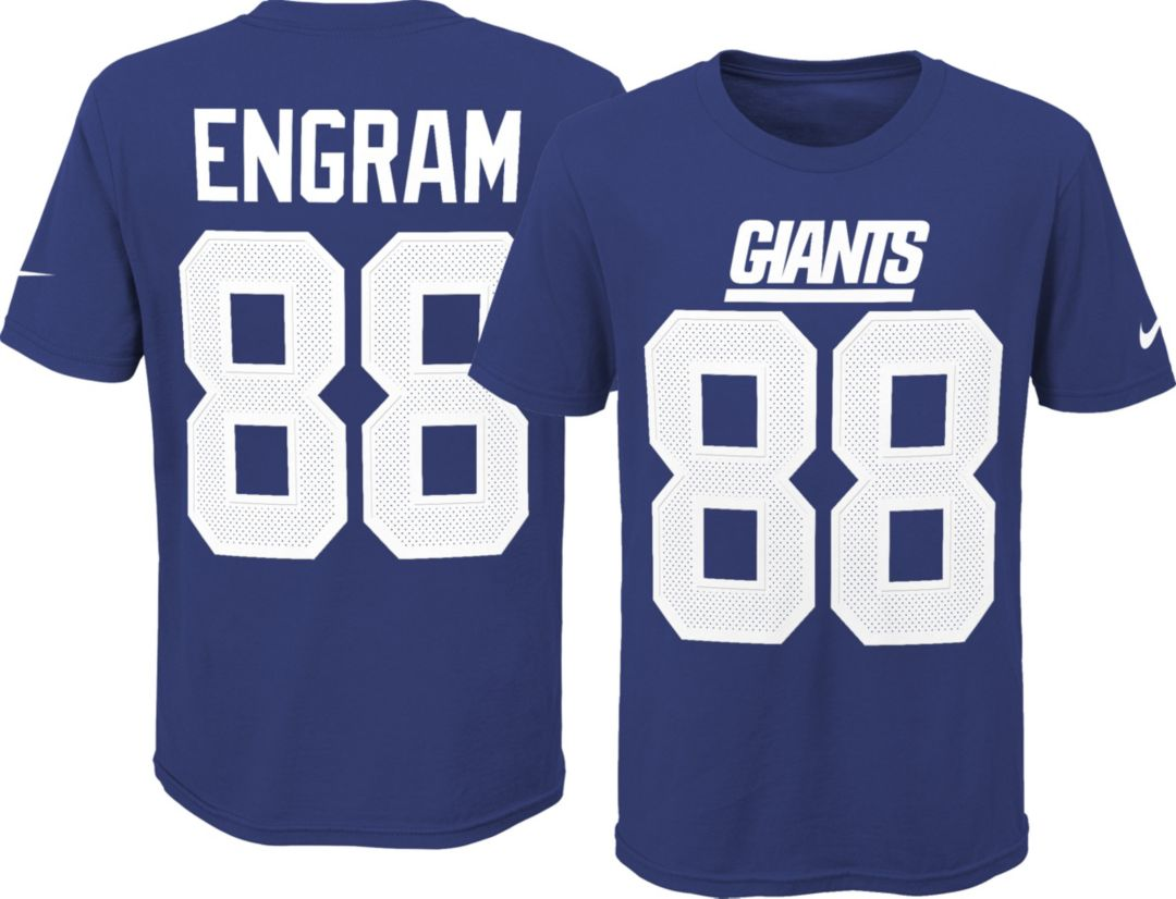 save off 870a3 a4b6a Nike Youth New York Giants Evan Engram #88 Pride Blue T-Shirt