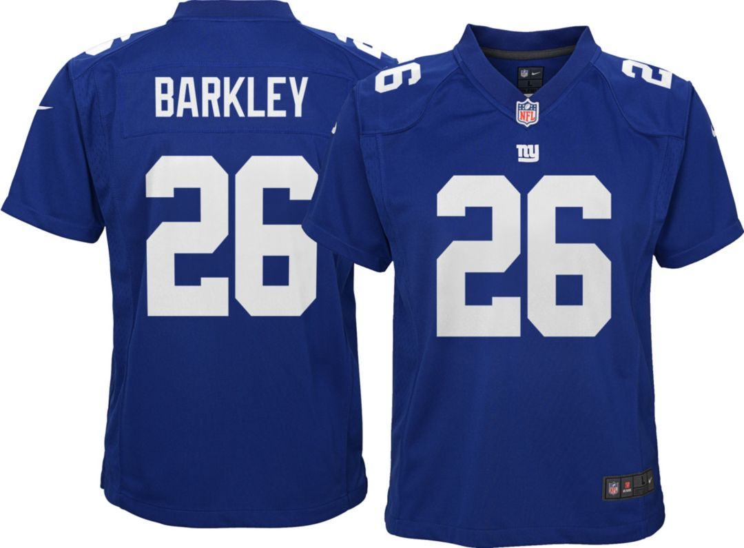promo code 11209 48baf Saquon Barkley #26 Nike Youth New York Giants Home Game Jersey