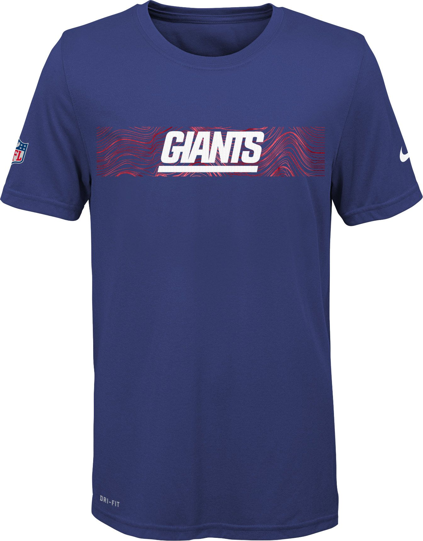 Nike Youth New York Giants Sideline Seismic Legend Performance Blue T-Shirt.  noImageFound c152ffd7d