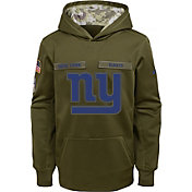 Nike Youth Salute to Service New York Giants Therma-FIT Olive Performance Hoodie