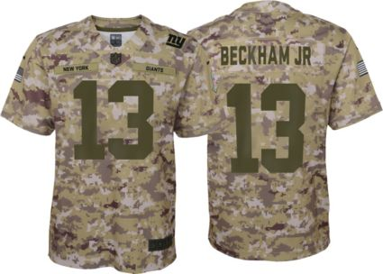 6751808a3b26 Nike Youth Salute to Service New York Giants Odell Beckham Jr. #13  Camouflage Home Game Jersey.  starstar_borderstar_borderstar_borderstar_border 1. OUT OF ...