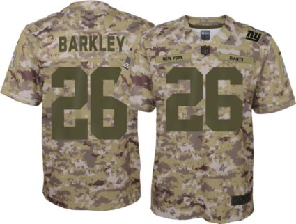 Nike Youth Salute to Service New York Giants Saquon Barkley  26 Camouflage  Home Game Jersey. noImageFound ff952999a