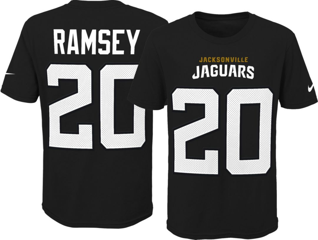 online store 3302a 91c6a Nike Youth Jacksonville Jaguars Jalen Ramsey #20 Pride Black Player T-Shirt