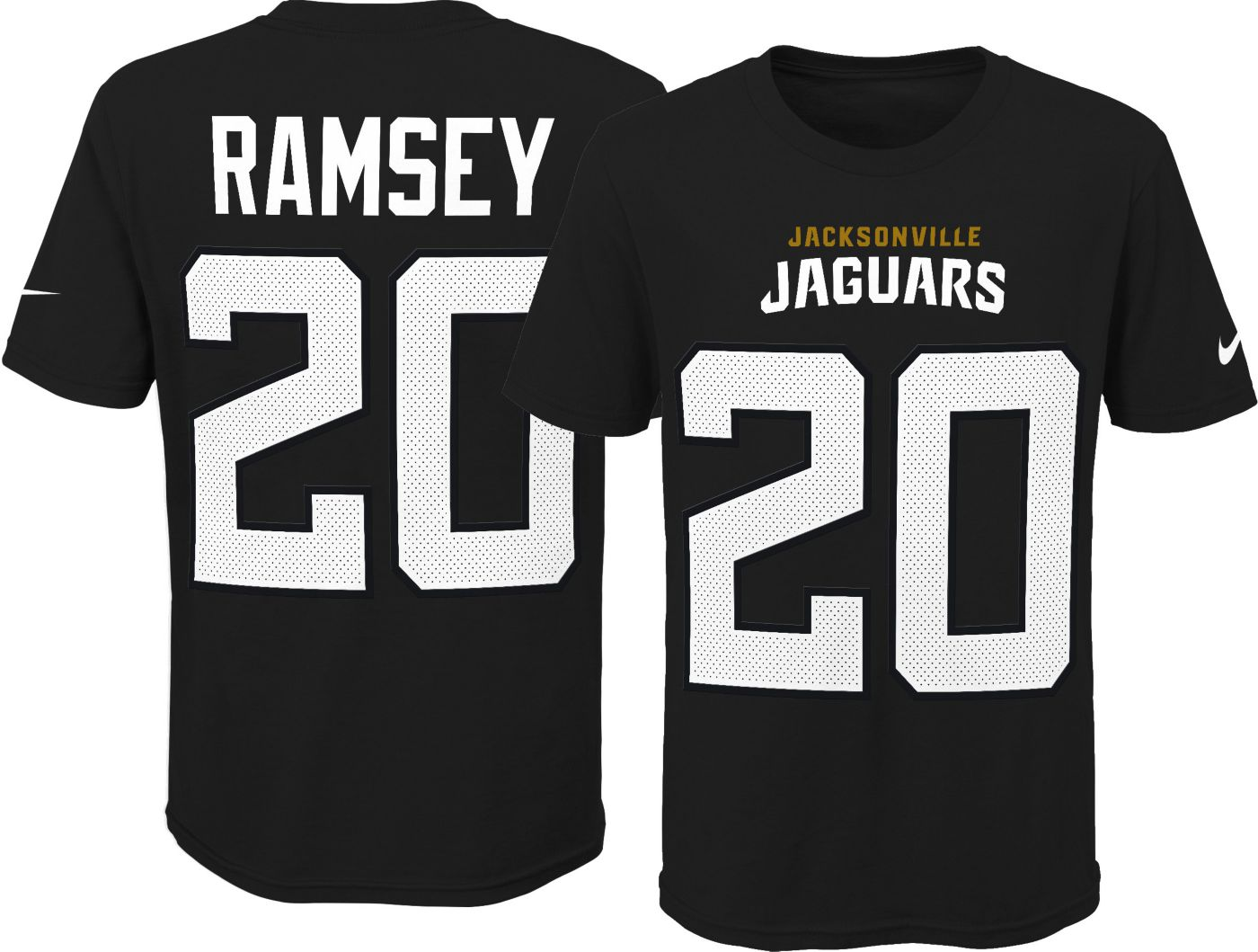 Nike Youth Jacksonville Jaguars Jalen Ramsey #20 Pride Black Player T-Shirt