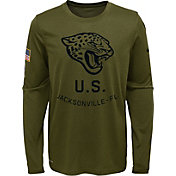 665eaddb8977fa Product Image · Nike Youth Salute to Service Jacksonville Jaguars Legend  Long Sleeve Olive Shirt