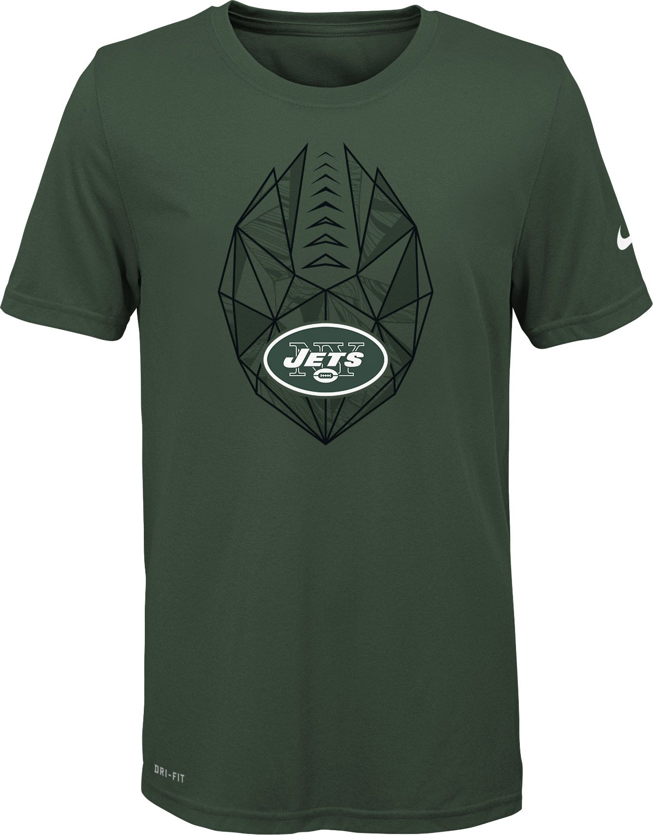 Nike Youth New York Jets Icon Performance Green T Shirt Dicks