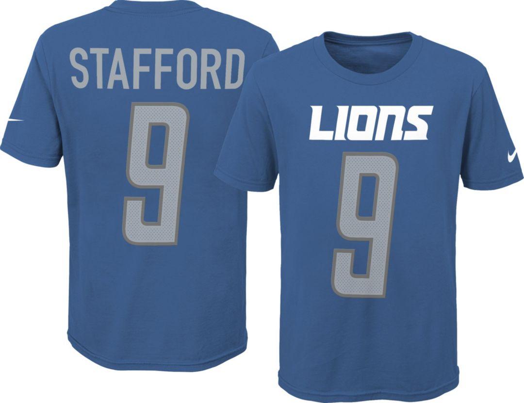 quality design f6f57 0e077 Nike Youth Detroit Lions Matt Stafford #9 Pride Blue T-Shirt
