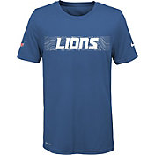 Nike Youth Detroit Lions Sideline Seismic Legend Performance Blue T-Shirt