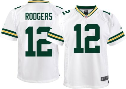 Nike Youth Away Game Jersey Green Bay Aaron Rodgers  12  006e69205