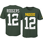 Nike Youth Green Bay Packers Aaron Rodgers #12 Pride Green Player T-Shirt