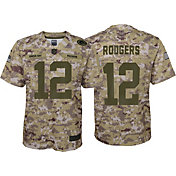 Nike Youth Salute to Service Green Bay Packers Aaron Rodgers #12 Camouflage Home Game Jersey