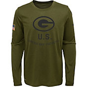 Nike Youth Salute to Service Green Bay Packers Legend Long Sleeve Olive Shirt
