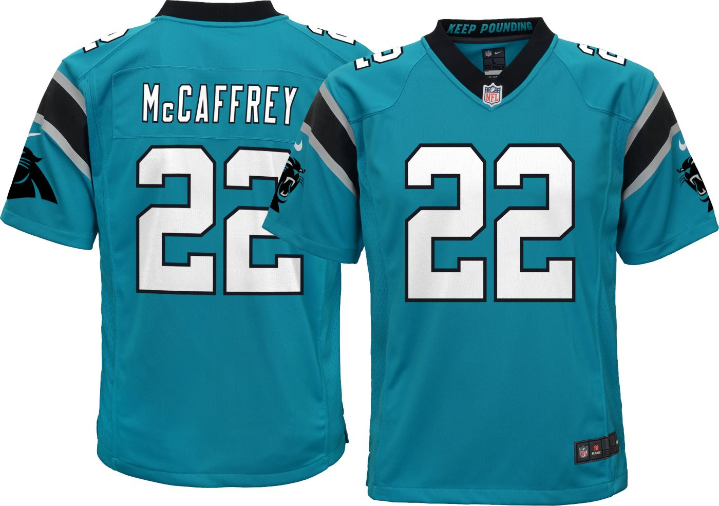 Nike Youth Alternate Game Jersey Carolina Panthers Christian McCaffrey #22