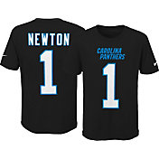 Nike Youth Carolina Panthers Cam Newton #1 Pride Black Player T-Shirt