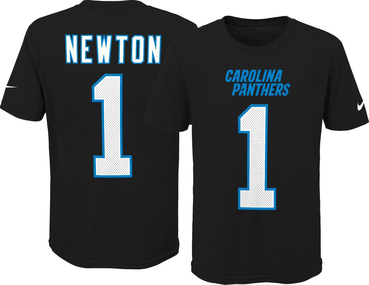 Nike Youth Carolina Panthers Cam Newton #1 Pride Black Player T-Shirt