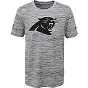 Nike Youth Carolina Panthers Dri-FIT Legend Velocity Grey Performance T-Shirt
