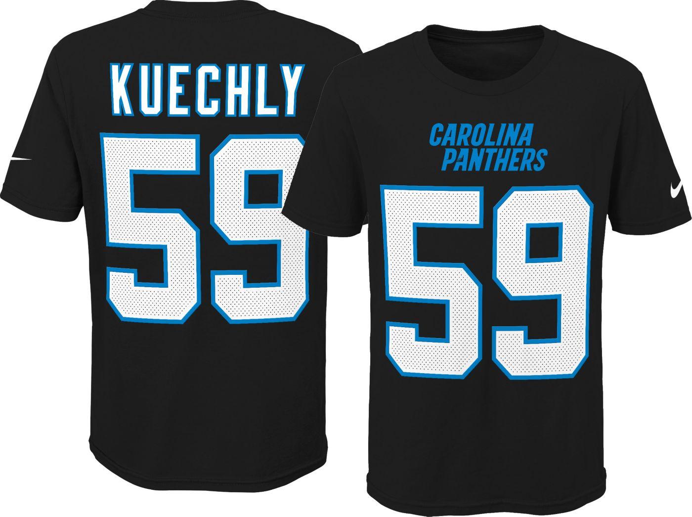 Nike Youth Carolina Panthers Luke Kuechly #59 Pride Black Player T-Shirt