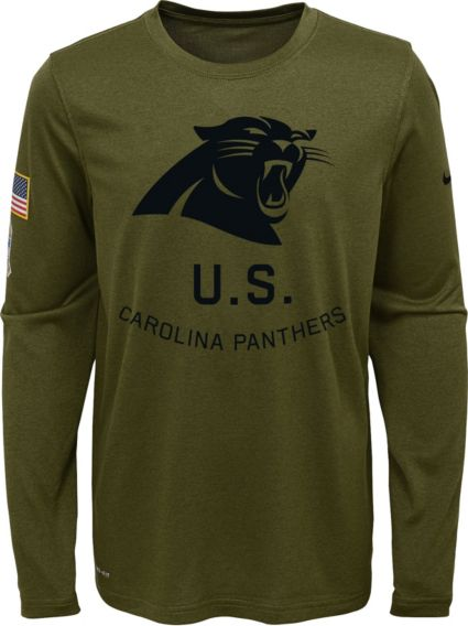 Nike Youth Salute to Service Carolina Panthers Legend Long Sleeve Olive  Shirt. noImageFound e70be5c5f