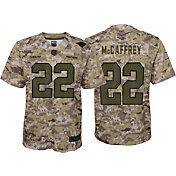 Nike Men's Salute to Service Carolina Panthers Christian McCaffrey #22 Camouflage Game Jersey